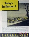 caterpillar tractor company 1940 todays trailmaker vintage ad