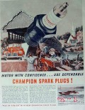 champion spark plugs 1940 lou fageol hydroplane vintage ad
