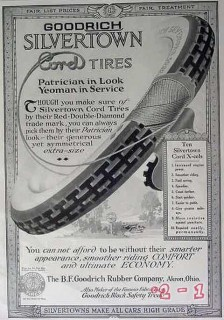 b f goodrich 1917 patrician in look silvertown cord tire vintage ad