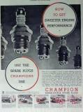 champion spark plugs 1934 bob mckenzie engine performance vintage ad
