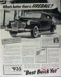 buick 1941 whats hotter than a fireball sedan car vintage ad