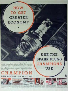 champion spark plugs 1934 how to get greater economy vintage ad