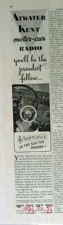 atwater kent mfg company 1934 easter parade car radio vintage ad