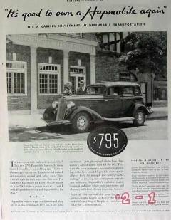 hupmobile 1934 rumble seat sedan autombile car vintage ad