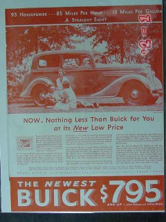 buick 1934 nothing less for you new low price flint mi car vintage ad