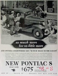 pontiac 1934 eight much more so little easy handle car vintage ad