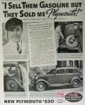 plymouth 1934 vernon f krause chicago il service station vintage ad