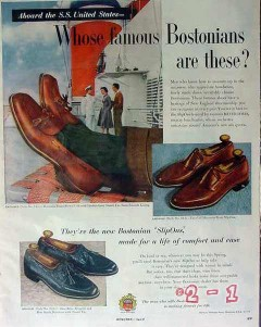 bostonian 1953 meyer davis bandleader ss united states shoe vintage ad