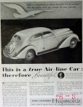 hupmobile 1934 air-line car alexander klemin aeronautics vintage ad