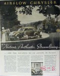 chrysler 1934 airflow natures balance arrow in flight car vintage ad