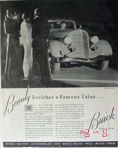 buick 1934 flint mi beauty enriches famous value motor car vintage ad