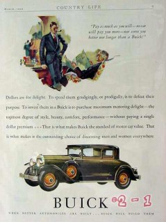 buick 1929 automobile car vintage advertisement