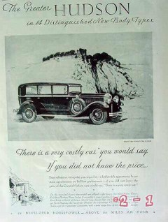 hudson 1929 chas barker copper etching car vintage ad