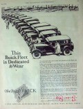 buick motor company 1926 test fleet dedicated to wear car vintage ad