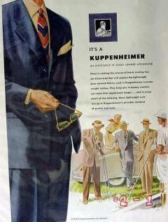 b kuppenheimer 1949 invest good summer appearance men suit vintage ad
