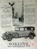 oakland all-american six 1928 car vintage ad