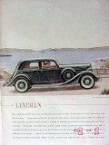 lincoln 1935 coupe automobile car vintage ad
