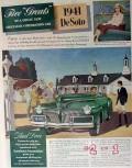 chrysler 1941 five greats de soto drive rocket bodies car vintage ad