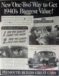plymouth 1940 new one-two way get biggest value quality car vintage ad