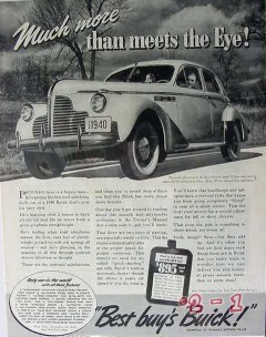 buick 1940 gm much more meets eye super model 51 car vintage ad