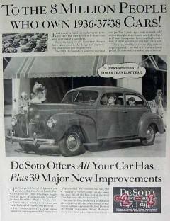 chrysler 1940 de soto all car has plus 39 new improvements vintage ad