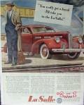 cadillac motor car 1940 lasalle special touring sedan break vintage ad