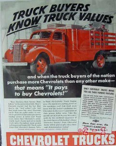 chevrolet 1940 gm chevy buyers know value truck vintage ad