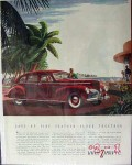 lincoln 1940 zephyr v-12 v12 palm tree ford car vintage ad