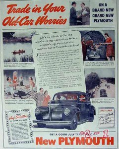 chrysler 1940 trade in old car worries brand new plymouth vintage ad