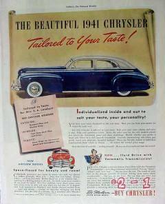 chrysler 1941 mrs s a lamburt car tailored to taste windsor vintage ad