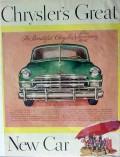 chrysler 1949 great silver anniversary model prestomatic vintage ad