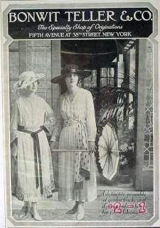 bonwit teller company 1917 clothing frocks vintage ad