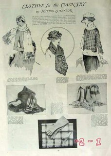 clothes for the country 1919 woman clothing scarves vintage article