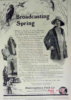 abercrombie fitch company 1924 broadcasting spring clothing vintage ad