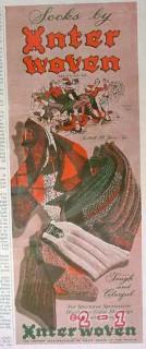 interwoven stocking company 1940 socks colorful spectator vintage ad