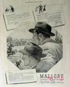 mallory hats 1940 sportsman town club hat vintage ad