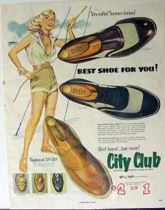 city club 1953 vagabonds mens shoes vintage ad