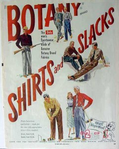 botany shirts and slacks 1949 mens virgin wool clothing vintage ad