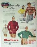 marlboro shirt co 1949 major style college tresome jacket vintage ad