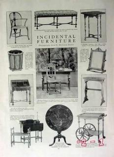 incidental furniture 1917 windsor chair period vintage article