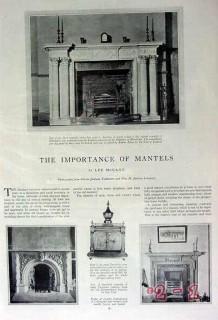 importance of mantels 1929 lee mccann magazine vintage article