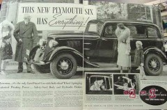 plymouth 1934 six has everything floating power dodge car vintage ad