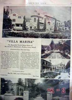 villa marina 1924 roslyn li ny country home real estate vintage ad