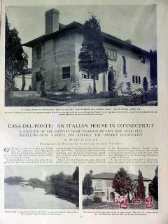 casa del ponte 1907 connecticut estate country home vintage article