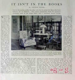 it isnt in the books 1917 sophie kerr interior design vintage article