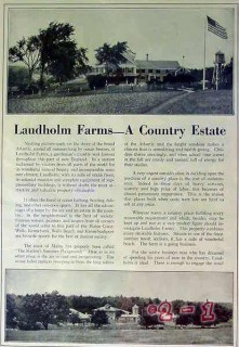 laudholm farms 1924 wells maine country home estate vintage article