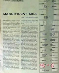chicago magnificent mile michigan avenue 1953 vintage article