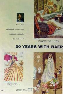 20 years howard baer traveler artist raconteur brush vintage article