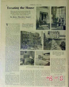 interior decorating 1934 nyc sutton place furniture vintage article