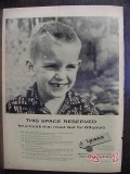bristol-myers 1956 space reserved wd-9 ipana tooth paste vintage ad